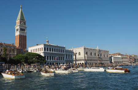 VENICE, ITALY - CIRCA SEPTEMBER 2016: Piazza San Marco (meaning St Mark square) seen from San Marco basin