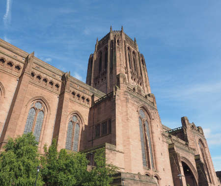 giles: Liverpool Cathedral aka Cathedral Church of Christ or Cathedral Church of the Risen Christ on St James Mount in Liverpool, UK