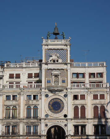 VENICE, ITALY - CIRCA SEPTEMBER 2016: Torre dell Orologio (meaning Clock Tower) in San Marco square