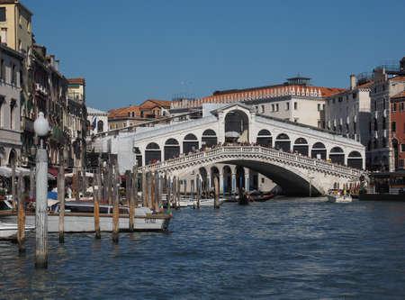 rialto: VENICE, ITALY - CIRCA SEPTEMBER 2016: Ponte di Rialto (meaning Rialto Bridge) over the Grand Canal Editorial