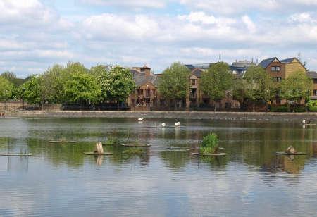 Surrey Water docks in Docklands, London, UK