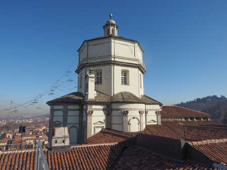 Church of Santa Maria al Monte aka Monte Dei Cappuccini (meaning Mount of Capuchin Friars) in Turin, Italy Stock Photo
