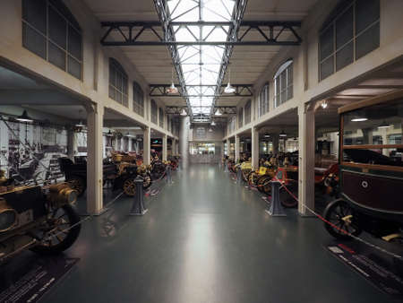 TURIN, ITALY - CIRCA JANUARY 2017: Vintage cars at Museo Nazionale dell Automobile (meaning National Automobile Museum car museum)