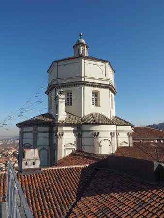 Church of Santa Maria al Monte aka Monte Dei Cappuccini (meaning Mount of Capuchin Friars) in Turin, Italy Stock Photo