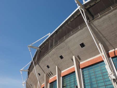 TURIN, ITALY - CIRCA MARCH 2017: Stadio Comunale Olimpico aka Filadelfia stadium