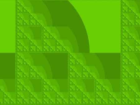 Chartreuse yellow_green Eta Sierpinski set abstract fractal illustration useful as a background Stock Photo