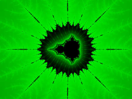 iterative: Green abstract fractal illustration useful as a background