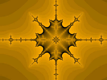 iterative: Orange abstract fractal illustration useful as a background