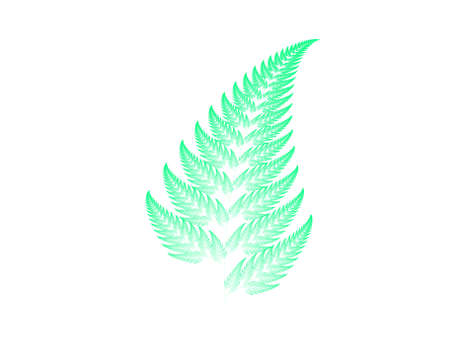 Spring green Barnsley set fern abstract fractal illustration useful as a background Stock Photo