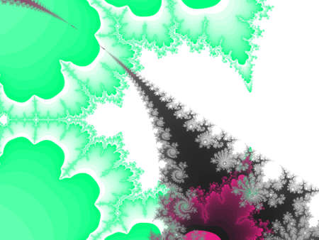 iterative: abstract fractal illustration useful as a background Stock Photo