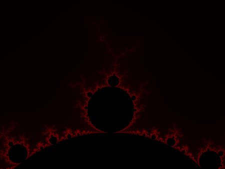 iterative: Red abstract fractal illustration useful as a background