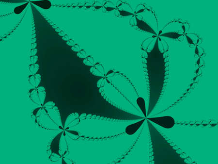 iterative: Green Newton set abstract fractal illustration useful as a background