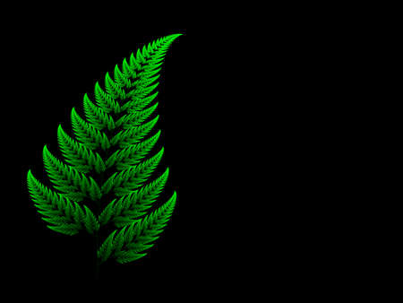 Colour Barnsley set fern abstract fractal illustration useful as a background Stock Photo