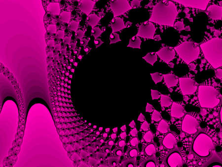 iterative: Pink abstract fractal illustration useful as a background