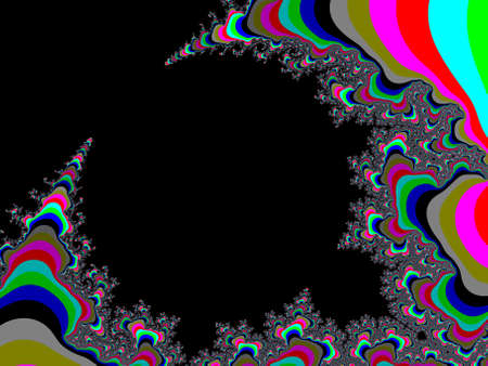Colour Mandelbrot set abstract fractal illustration useful as a background Stock Photo