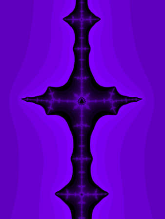iterative: Violet abstract fractal illustration useful as a background