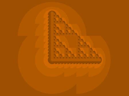 Orange Eta Sierpinski set abstract fractal illustration useful as a background Stock Photo