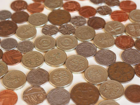 uk money: Pound coins money (GBP), currency of United Kingdom