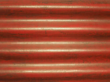 red corrugated metal texture useful as a background Stock Photo