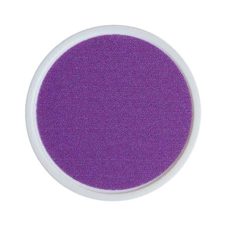 Purple plastic chip fiche token money - isolated over white Archivio Fotografico