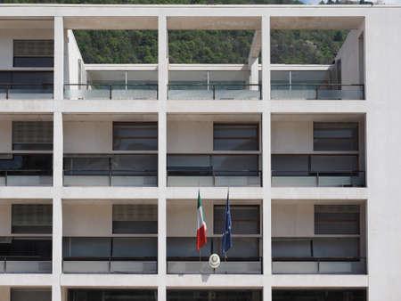 rationalist: COMO, ITALY - CIRCA APRIL 2017: Casa del Fascio (former National Fascist party seat) aka Palazzo Terragni designed by rationalist architect Giuseppe Terragni