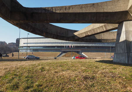 トリノ, イタリア - 2017年 1 月年頃: Museo ナツィオナーレ dell 自動車 (意味国立自動車博物館自動車博物館) 報道画像