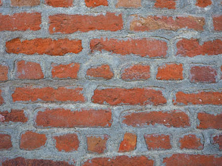 old brick wall: old red brick wall useful as a background Stock Photo