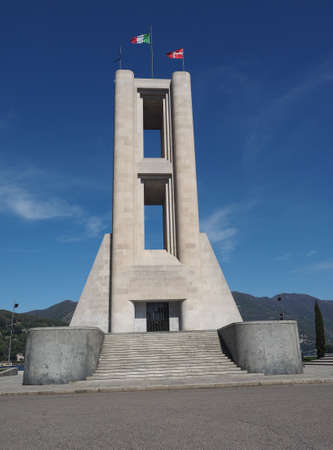futurist: COMO, ITALY - CIRCA APRIL 2017: Monumento ai Caduti war memorial by rationalist architects Antonio Sant Elia and Giuseppe Terragni