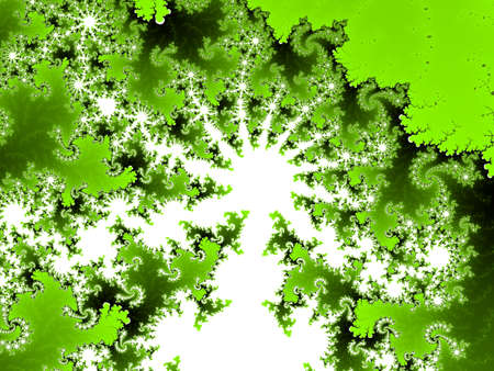Yellow green Mandelbrot set abstract fractal illustration useful as a background