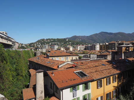 View of the city of Como, Italy