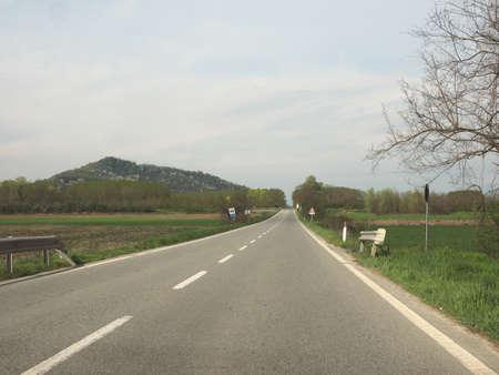 Val Cerrina street near Chivasso, Northern Italy