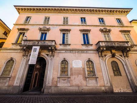 COMO, ITALY - CIRCA APRIL 2017: Museo Garibaldi (Garibaldi Museum) (HDR) Editorial