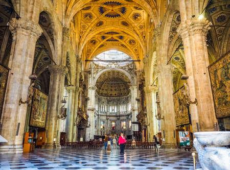 COMO, ITALY - CIRCA APRIL 2017: Santa Maria Assunta Roman Catholic cathedral church (HDR) Editorial