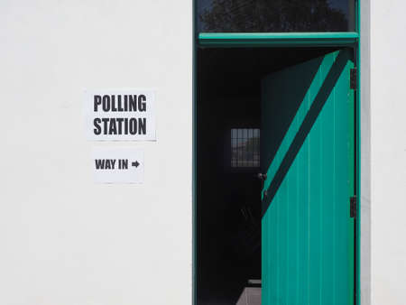 Polling station place for voters to cast ballots in general elections