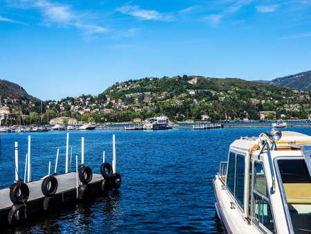 COMO, ITALY - CIRCA APRIL 2017: View of Lago di Como (Lake Como) (HDR)