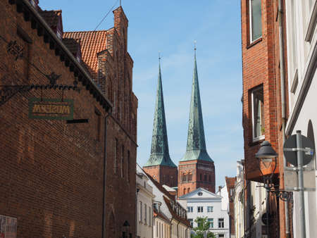 dom: Luebecker Dom cathedral church in Luebeck, Germany