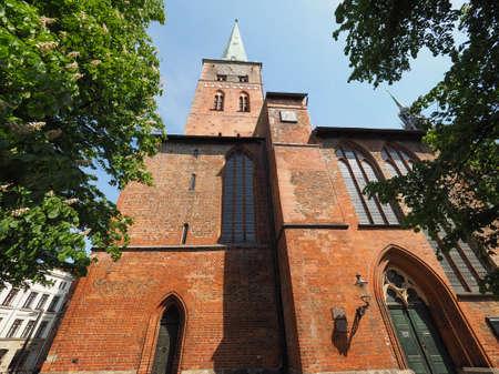 st german: St Jakobi (St James) church in Luebeck, Germany