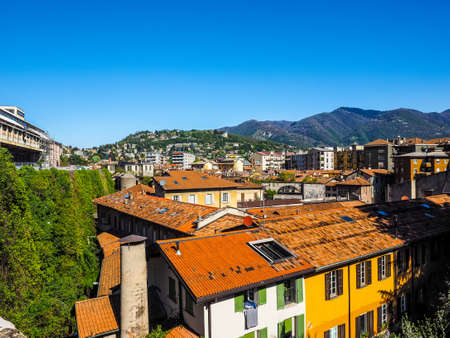 View of the city of Como, Italy (HDR)