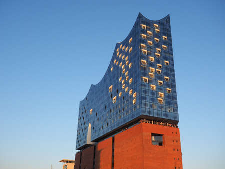 warehouse: HAMBURG, GERMANY - CIRCA MAY 2017: Elbphilharmonie concert hall designed by Herzog and De Meuron