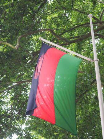 malawian flag: the Malawian national flag of Malawi, Africa