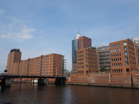 HafenCity quarter in the district of Hamburg Mitte on the Elbe river island Grasbrook on former Hamburger Hafen (Port of Hamburg) in Hamburg, Germany