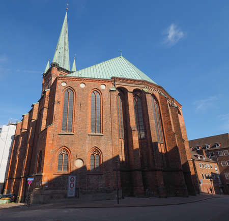 st german: St Petri (St Peter) church in Luebeck, Germany Stock Photo
