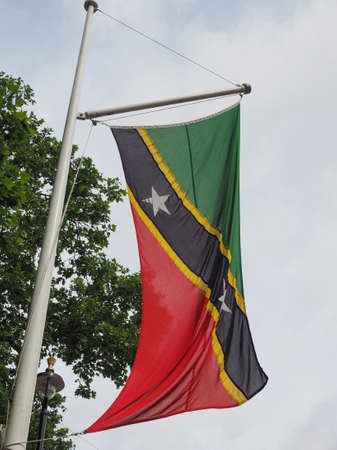 the Kittitian Nevisian national flag of St Kitts And Nevis, America Reklamní fotografie