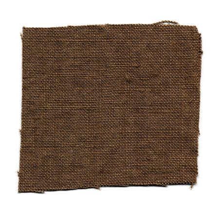 brown fabric swatch isolated over white background