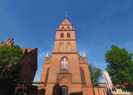 LUEBECK, GERMANY - CIRCA MAY 2017: Propsteikirche Herz Jesu (Church of the Sacred Heart of Jesus)