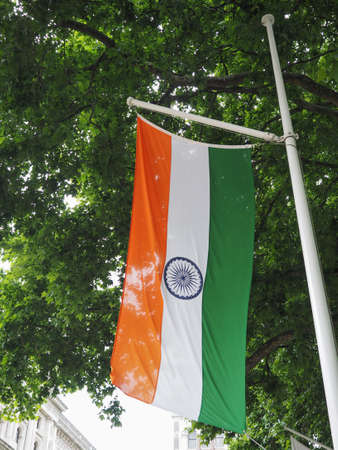 the Indian national flag of India, Asia
