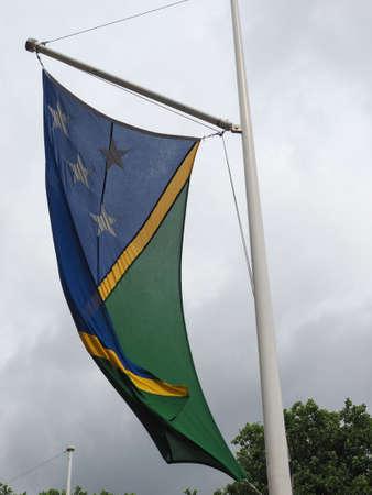 the Solomon Island national flag of Solomon Islands, Oceania Reklamní fotografie