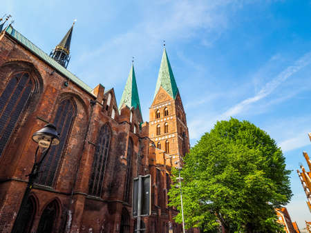 St Marien (St Mary) church in Luebeck, Germany, hdr Stock Photo