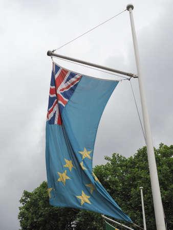 the Tuvaluan national flag of Tuvalu, Oceania Reklamní fotografie