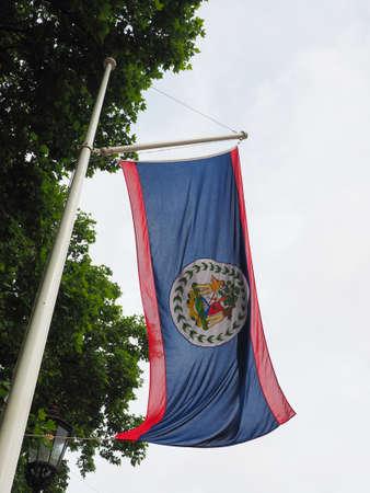 the Belizean national flag of Belize, America